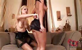 Deux lesbiennes se lèchent la chatte