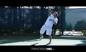 Fétiche sur le terrain de tennis